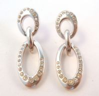 Swarovski Double Oval Drop Earrings.